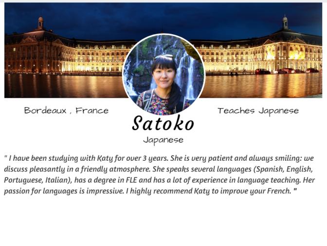 Satoko Anglais